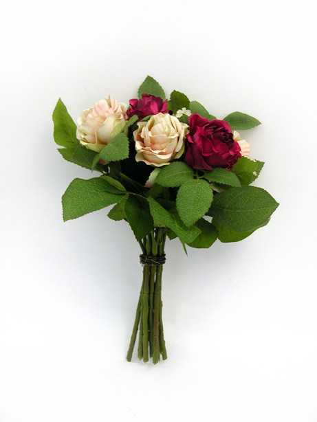 Rose Bundle Burgundy Pink