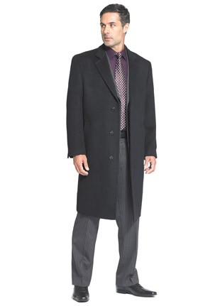 Long Funeral overcoat cashmere blend