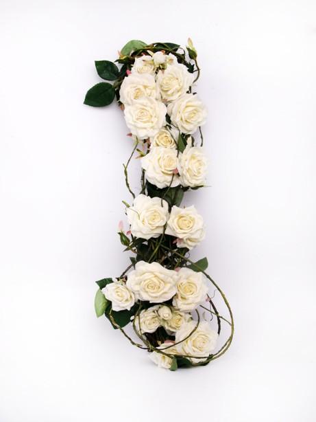 Eternity Rose/Willow Swag Cream