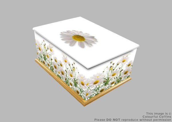Daisy, Autumn, and bluebell printed wooden ashes caskets