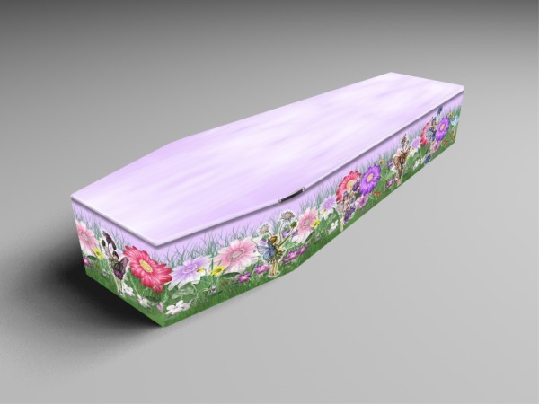 Fairy Garden, Daffs, Fressias printed coffins