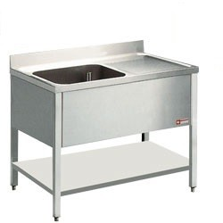 Mortuary Sink with Drain surface