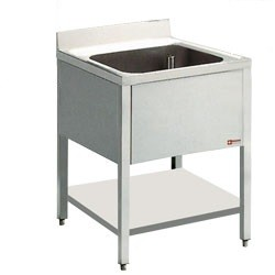 Mortuary Sink with shelf