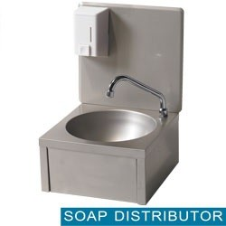 Mortuary wall sink with soap dispenser- Round