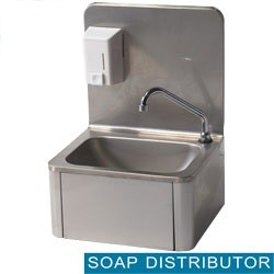 Mortuary wall hand sink with soap dispenser - Square