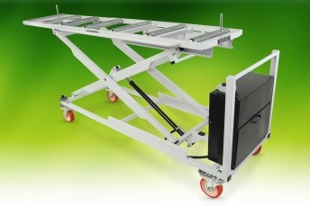 Mortuary Fridge Scissor Lifter Long Top - Electro and Manual Hydraulic