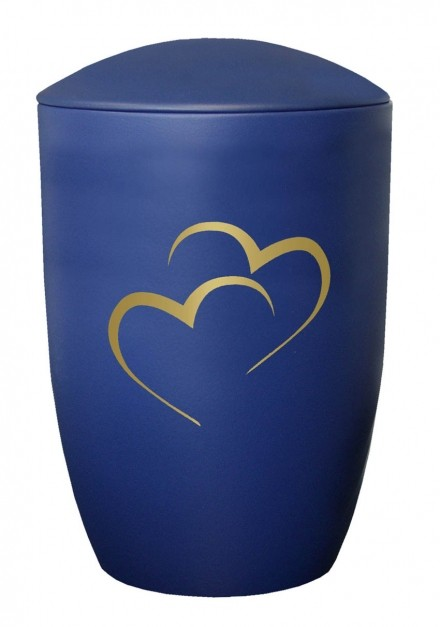 WALTON BLUE HEART CREMATION ASHES URN