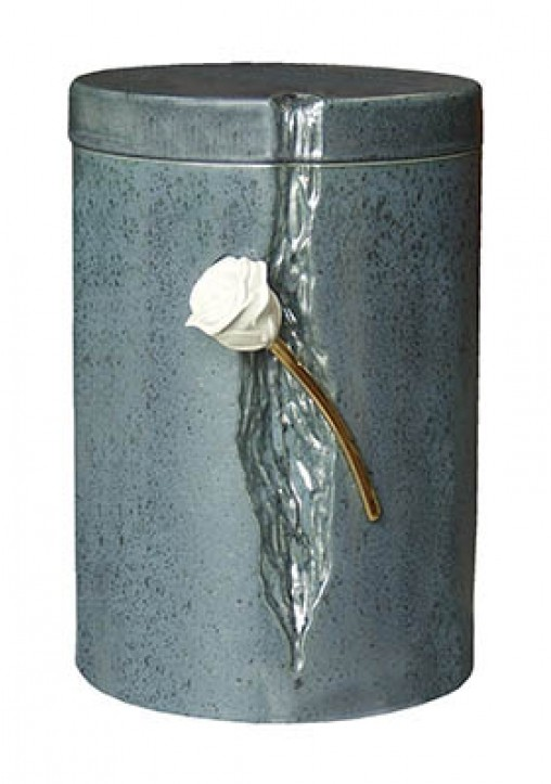 RUDRY ROSE GREY CREMATION ASHES URN