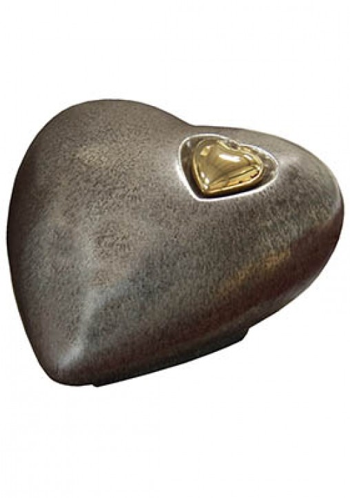 HARBURY HEART BRONZE CREMATION ASHES URN