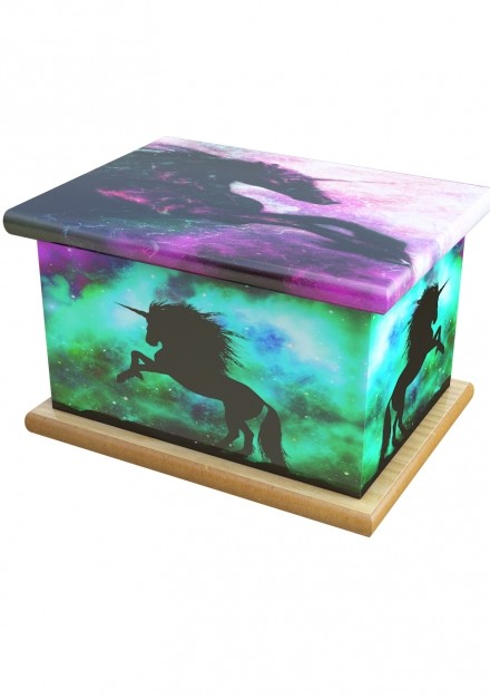 Mystic Unicorn Cremation Ashes Wooden Child/Infant Urn