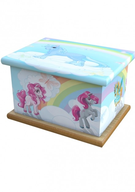 Unicorn Rainbow Cremation Ashes Wooden Child/Infant Urn