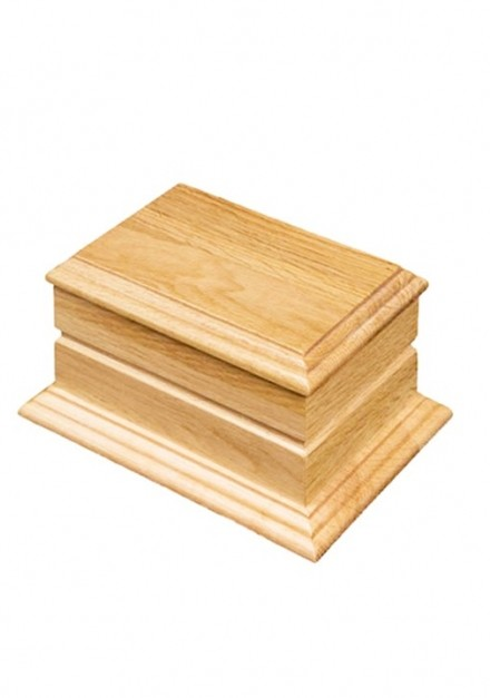Otley Oak Wooden Cremation Ashes Urn