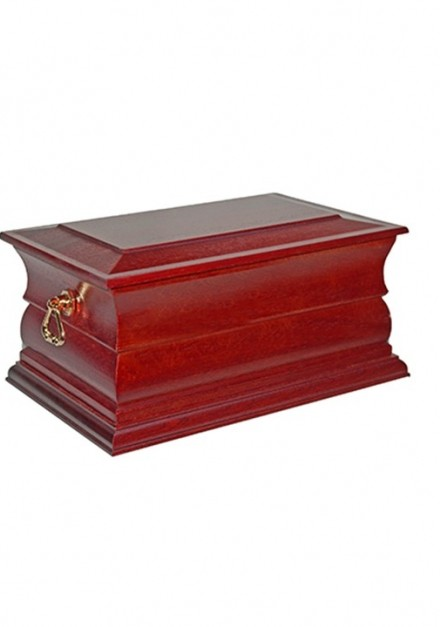NEWQUAY SOLID WOOD CREMATION ASHES CASKET DOUBLE