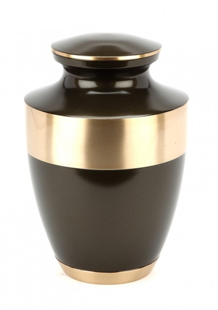 BROMLEY BROWN CREMATION ASHES URN