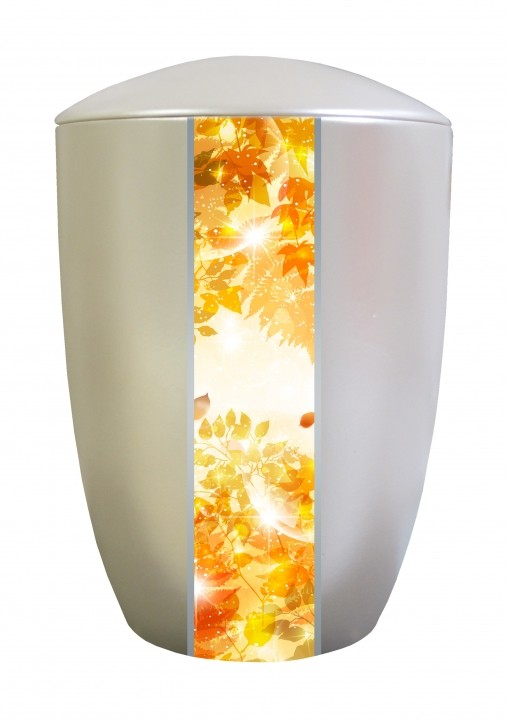 FARLEY IVORY GOLDEN LEAVES CREMATION URN