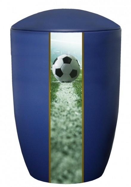 FARLEY BLUE FOOTBALL CREMATION URN