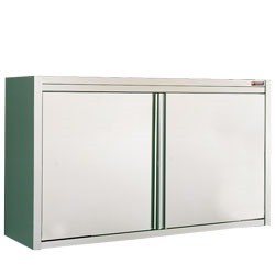 Stainless Steel Mortuary Wall cupboard with sliding doors