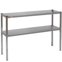 Stainless Steel Two Tier Free Standing Shelf