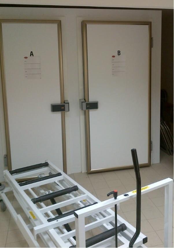 2 door end loading mortuary fridge - RW Roberts N. Wales