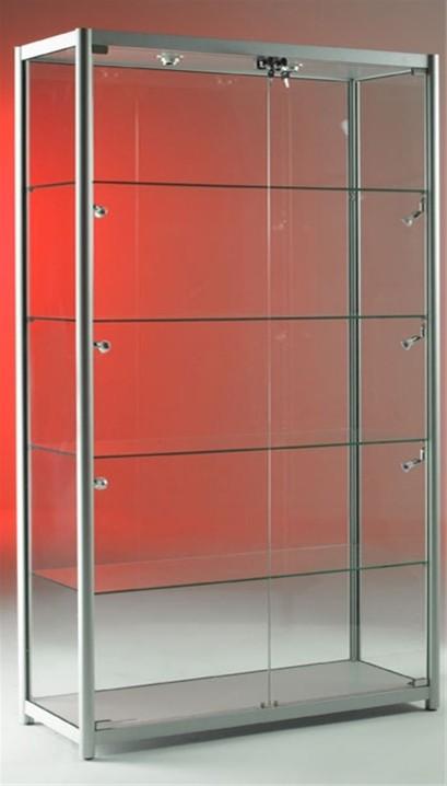 Aluminium glass display cabinets