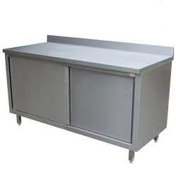 Mortuary Table cupboard with sliding doors
