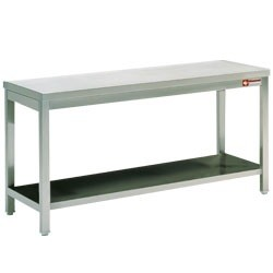 Mortuary Work table with lower shelf