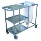 Aluminium 3 shelf trolley