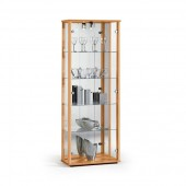Glass display cabinet in Beech DS.DCB67