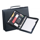 A4 zip around folio with handle