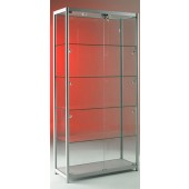 Aluminium glass display cabinets